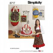 8717 Simplicity Pattern: Kitchen Accessories and Apron